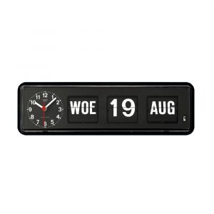 Twemco BQ-38 Analoge Kalenderklok Zwart