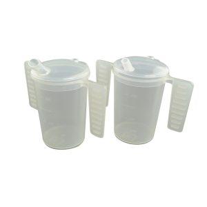 Drinkbeker met platte handgrepen