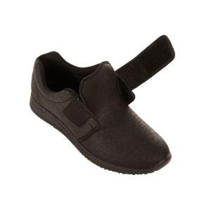 Sportief model comfortschoen voor heren. Inclusief klittenbandsluiting. Verkrijgbaar in zwart en bruin.