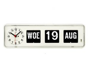Twemco BQ-38 Analoge Kalenderklok Wit