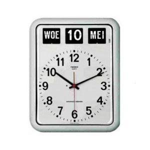 Kalenderklok Twemco BQ-12 Wit